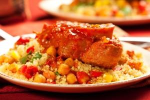 Couscous tunisien à la viande