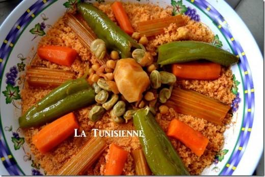 Recette du couscous tunisien aux cardons